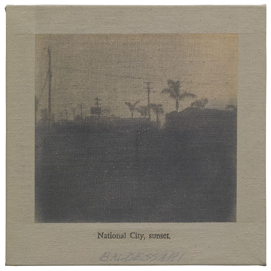 John Baldessari National City, sunset, 1966-67