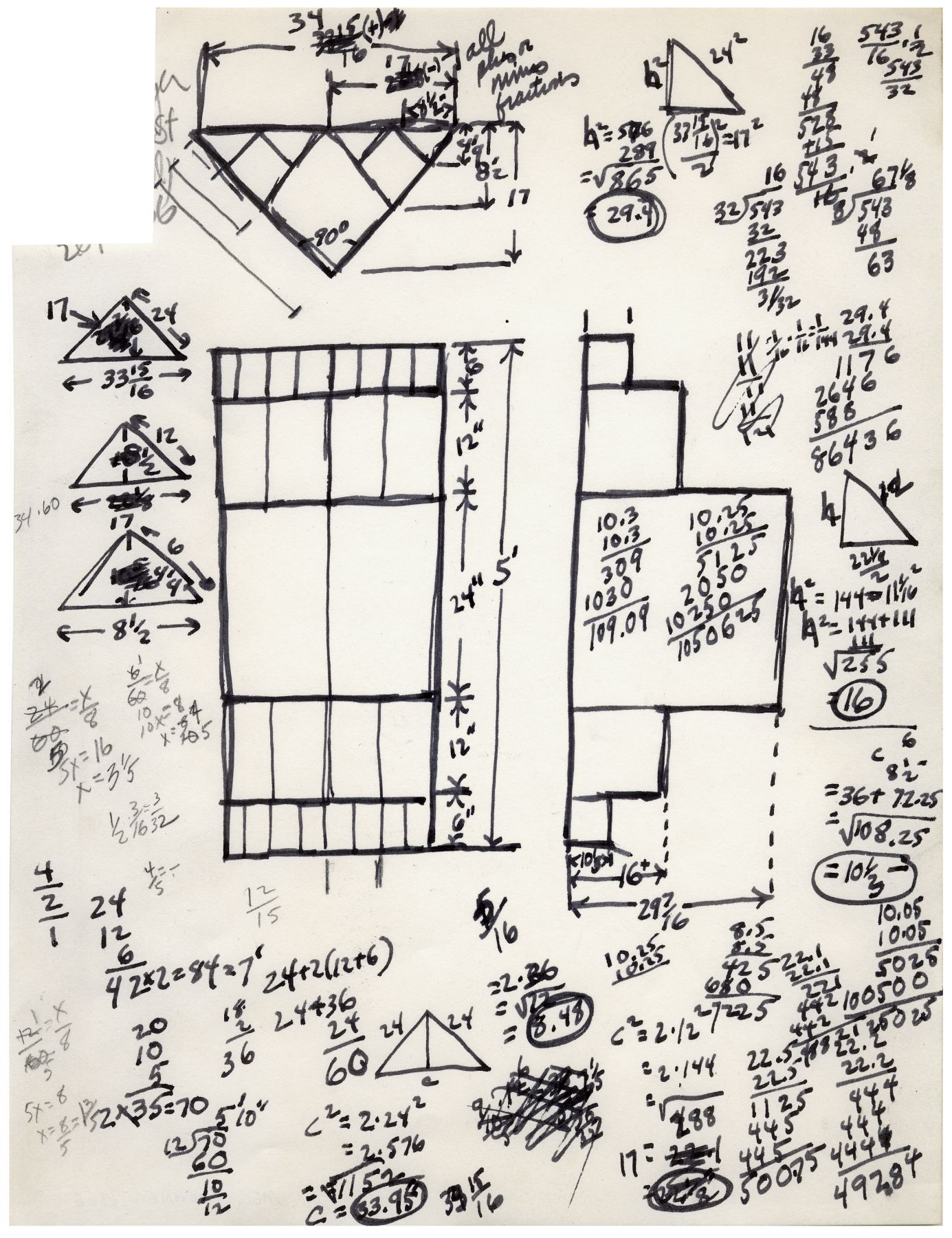 Mel Bochner,Untitled (Study for Cantor's Paradox), 1966. Ink and pencil on paper, 10 3/4 x 8 1/8 inches.