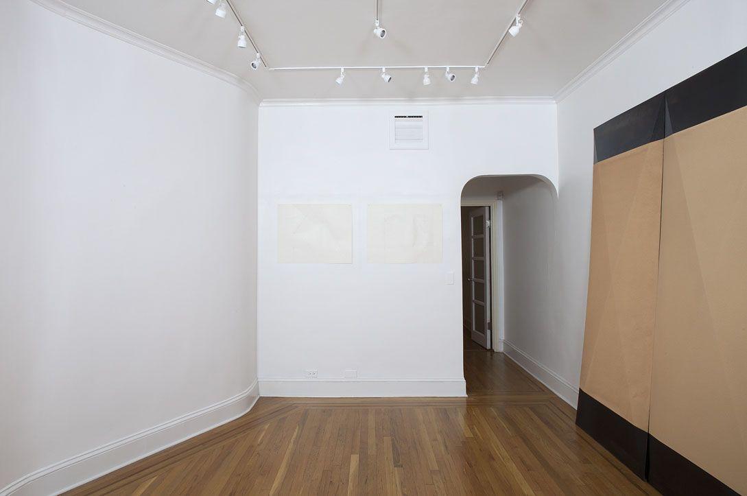 Installation view of Dorothea Rockburne: Works 1967-1972 at Craig F. Starr Gallery
