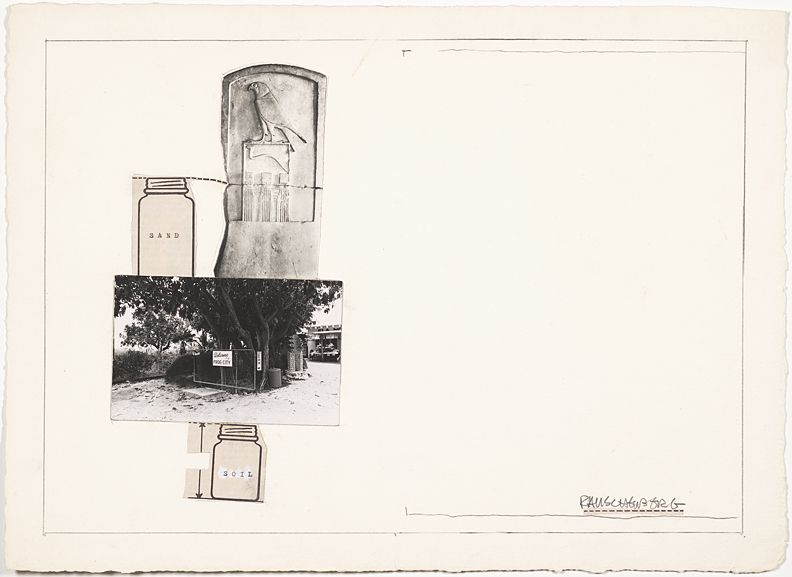 Robert Rauschenberg Sand/Soil (Collage for Ileana Sonnabend), n.d.