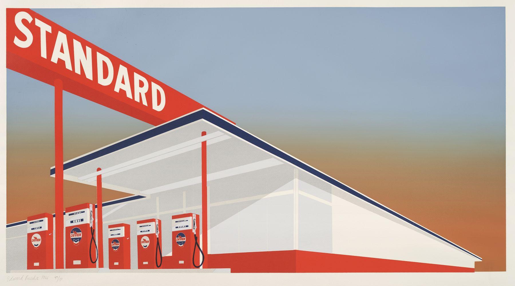 Edward Ruscha Standard Station, 1966