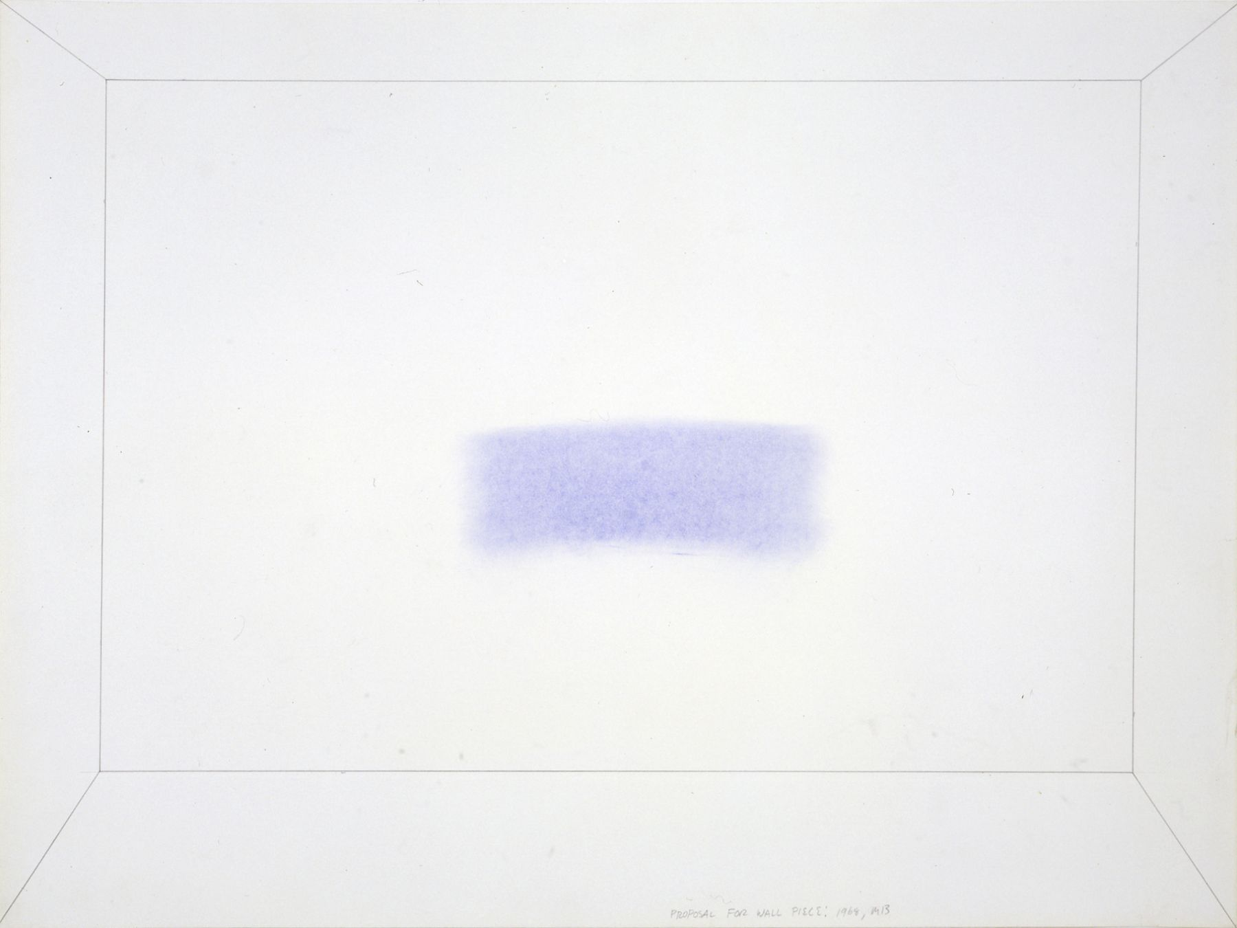 Mel Bochner,Proposal for Wall Piece: Smudge,1968.