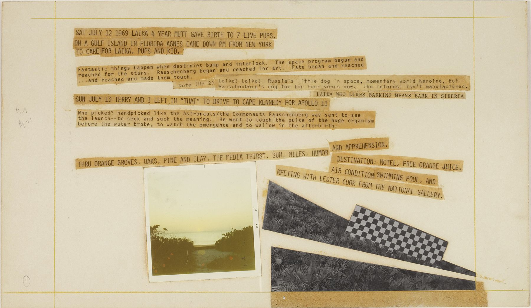 Robert Rauschenberg Stoned Moon Book, Page 1, 1970