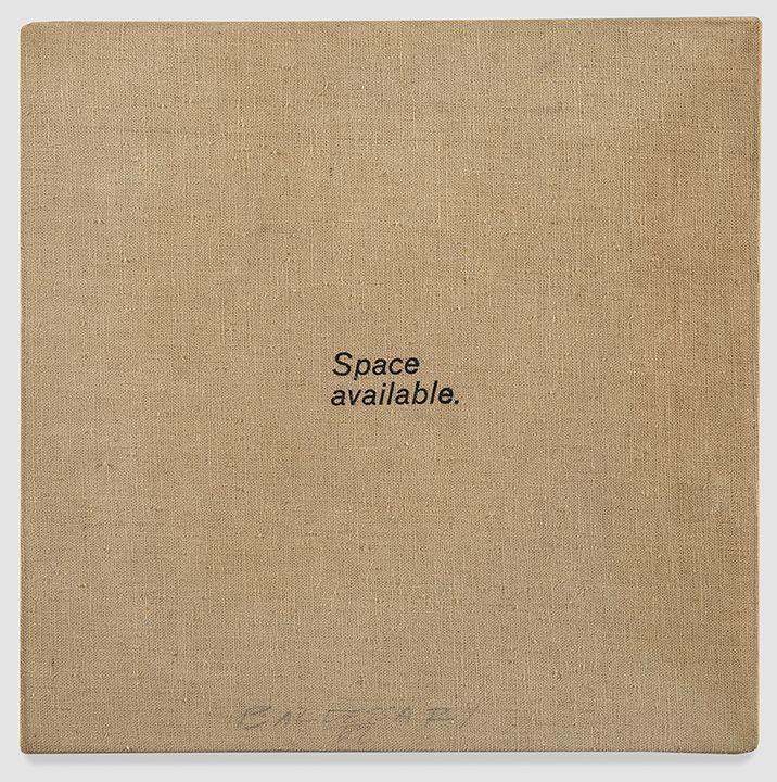 John Baldessari Space Available, 1966-67