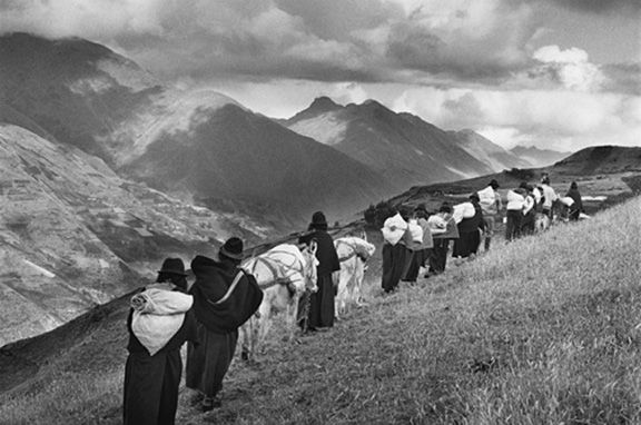 Women Carrying Goods to the Market of Chimbote, Chimborazo, Ecuador, from the series Migrations, 1998. 16 x 20, 20 x 24, 24 x 35, 36 x 50 or 50 x 68 inch gelatin silver print