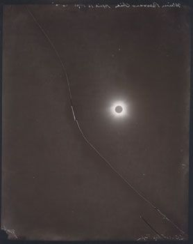 Broken Plate, April 16, 1893, 1997, 8 x 10 inch Printing Out Paper Print, Signed, titled and dated on verso, Contact printed from the original glass plate negative:Lick Observatory Plate Archive
