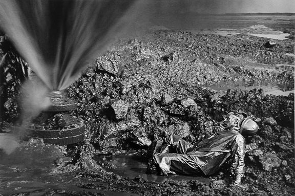 Fallen worker, Kuwait, from the series Workers, 1991. 16 x 20, 20 x 24, 24 x 35, 36 x 50 or 50 x 68 inch gelatin silver print