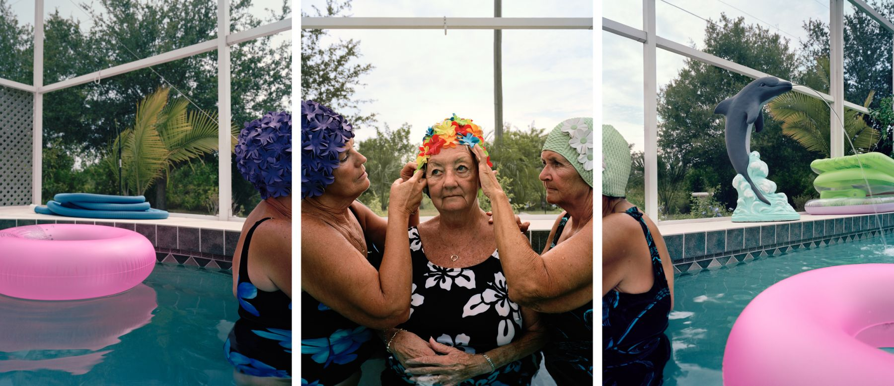 Doting on Jane, 2007. Three-panel archival pigment print, available as 24 x 60 or 40 x 90 inches.