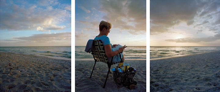 Tending to Doubt, 2009.Three-panel archival pigment print, available as24 x 60 or 40 x 90 inches.