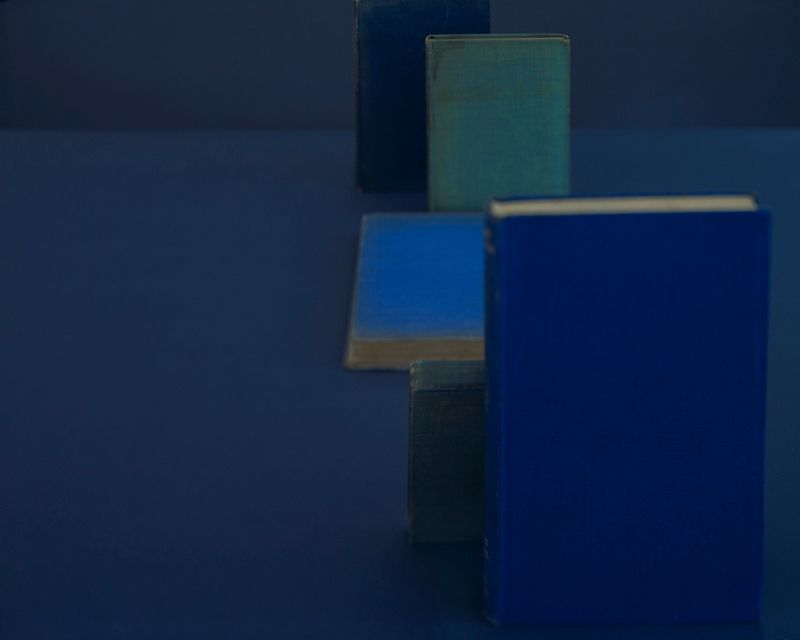 Diebenkorn Blues, from the series Blue Books, 2004. Archival pigment print, 28 x 35, 20 x 25, or 14 1/2 x 18 inches.