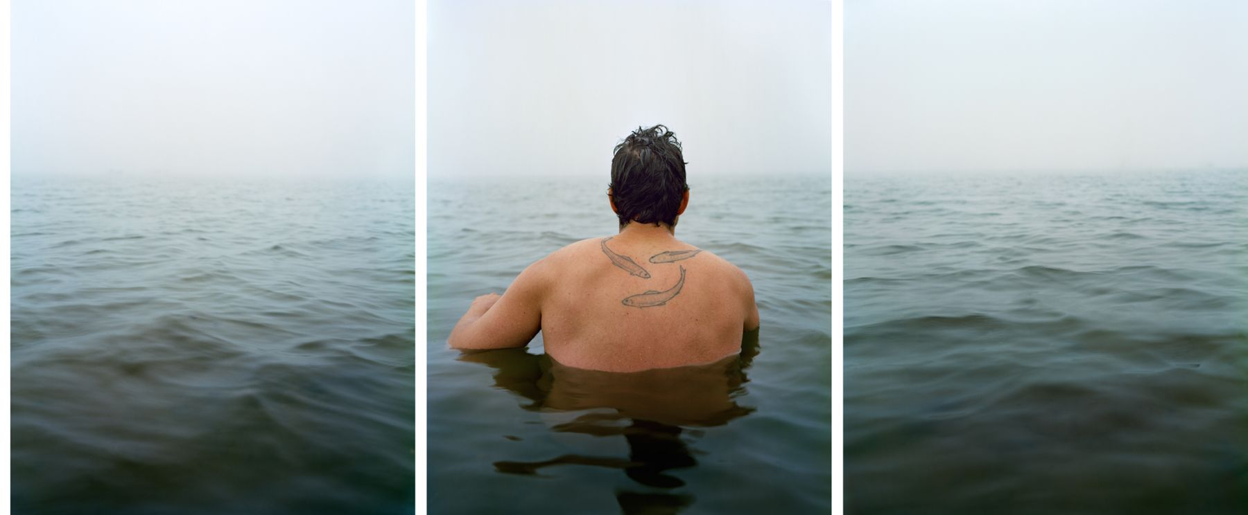 Ebb, 2012. Three-panel archival pigment print, available as 24 x 60 or 40 x 90 inches.