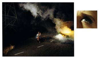 Alex Prager, 11:45pm, Griffith Park and Eye # 4 (Roadside Victim) , from the series Compulsion, 2012