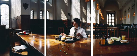 Bleeder, 2008. Three-panel archival pigment print, available as24 x 60 or 40 x 90 inches.