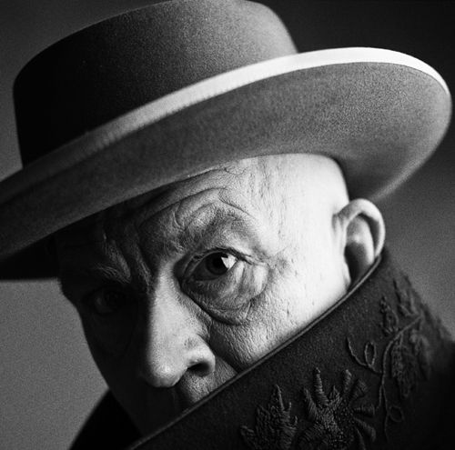 Irving Penn / Pablo Picasso, Cannes, France (1957), 2014, Archival pigment print, 18 x 18 inches