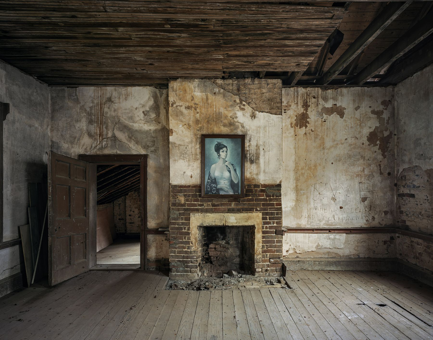 Andrew Moore,Carmen, Saunders Hall, Lawrence County, Alabama,2015. Archival pigment print, 50 x 60 inches.