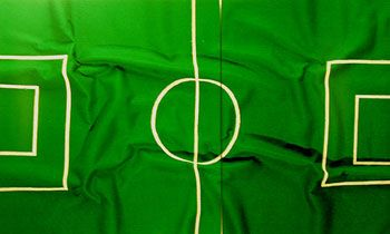 Soccer Field #3, 2005, 40 x 69 inch 2 Panel Chromogenic Print, Edition of 6