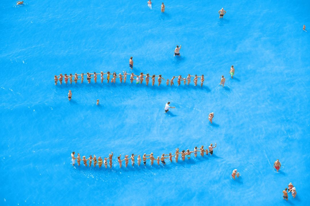Adriatic Sea (Staged) Dancing People 14,2015Archival pigment print65 x 96 inchAlso available as 44.5 x 65.5Edition of 7 + 3 AP
