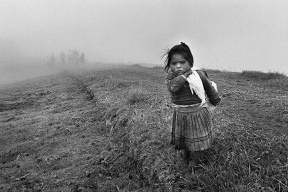 Young girl, Yuracruz, Ecuador, from the series Migrations, 1998. 16 x 20, 20 x 24, 24 x 35, 36 x 50 or 50 x 68 inch gelatin silver print