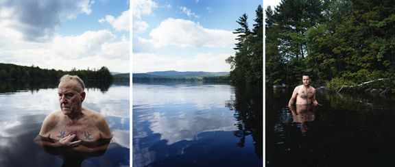 Rock Bottom, 2008. Three-panel archival pigment print, available as 24 x 60 or 40 x 90 inches.