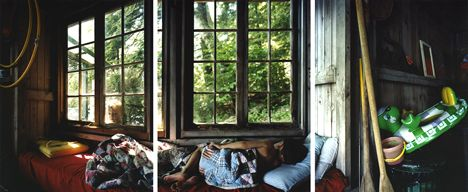 Letting Go of The Day, 2008, Chromogenic Prints (3 Panels), Signed on verso. Available in 24 x 60 inches, Edition of 12 and 40 x 90 inches, Edition of 7.