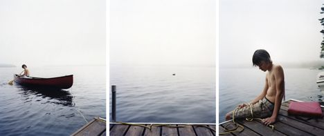 Boys Tethered, 2008, Chromogenic Prints (3 Panels), Signed on verso. Available in 24 x 60 inches, Edition of 12 and 40 x 90 inches, Edition of 7.