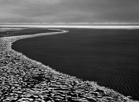 The Arctic Ocean around the Inupiat village of Kaktovik, Alaska, from the series Genesis, 2009. 16 x 20, 20 x 24, 24 x 35, 36 x 50 or 50 x 68 inch gelatin silver print