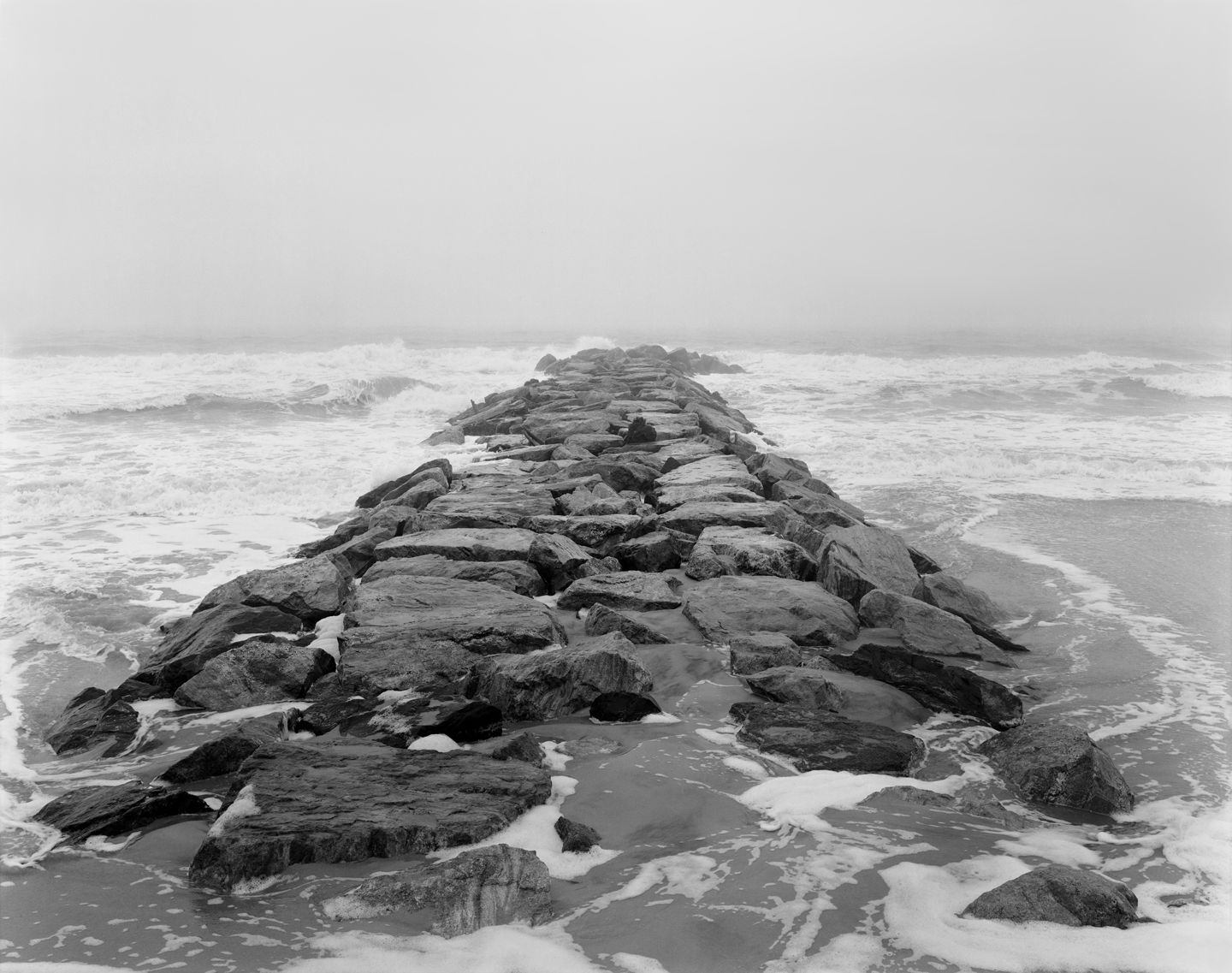 Rockaway, Queens, from the series Rocks and Clouds, 2014. Gelatin silver print,30 x 40or 54 x 68 inches.