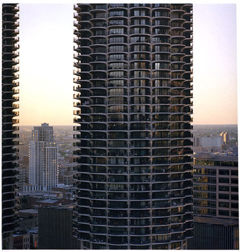 Marina Towers, from the series Revealing Chicago, 2004, 30 x 30 or 40 x 40 inch chromogenic print