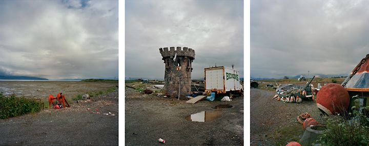 Turret, 2009. Three-panel archival pigment print, available as 24 x 60 or 40 x 90 inches.
