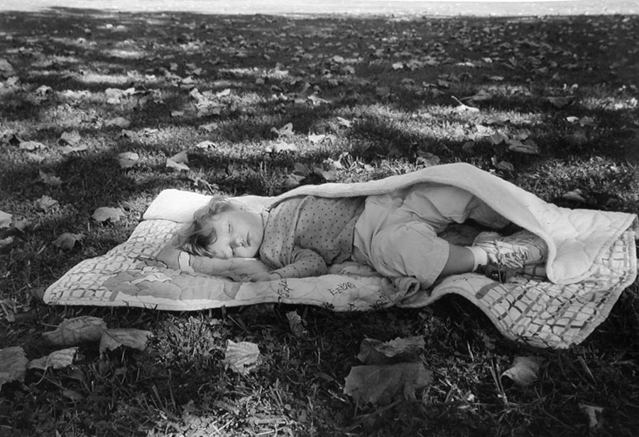 Elisabethton, TN (baby on blanket) 2001 Gelatin silver print, please inquire for available sizes
