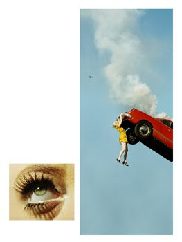 Alex Prager, 3:32pm, Coldwater Canyon and Eye # 5 (Automobile Accident), from the series Compulsion, 2012