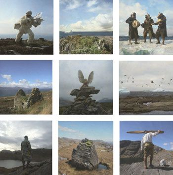 in Grönland (in Greenland), 2007, 52 x 52 inches 9/ 17 x 17 inches each, Archival ink jet prints, Signed, titled, dated and numbered on verso with artist label, Edition of 10