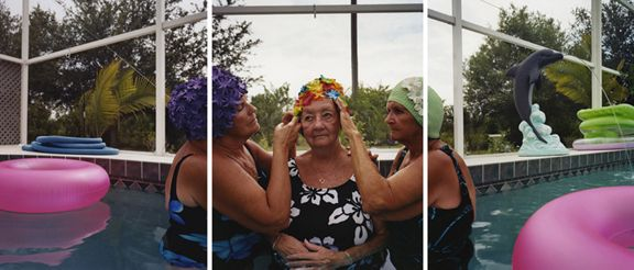 Doting on Jane, 2007.Three-panel archival pigment print, available as24 x 60 or 40 x 90 inches.