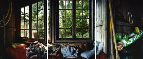 Letting Go of The Day, 2008. Three-panel archival pigment print, available as24 x 60 or 40 x 90 inches.