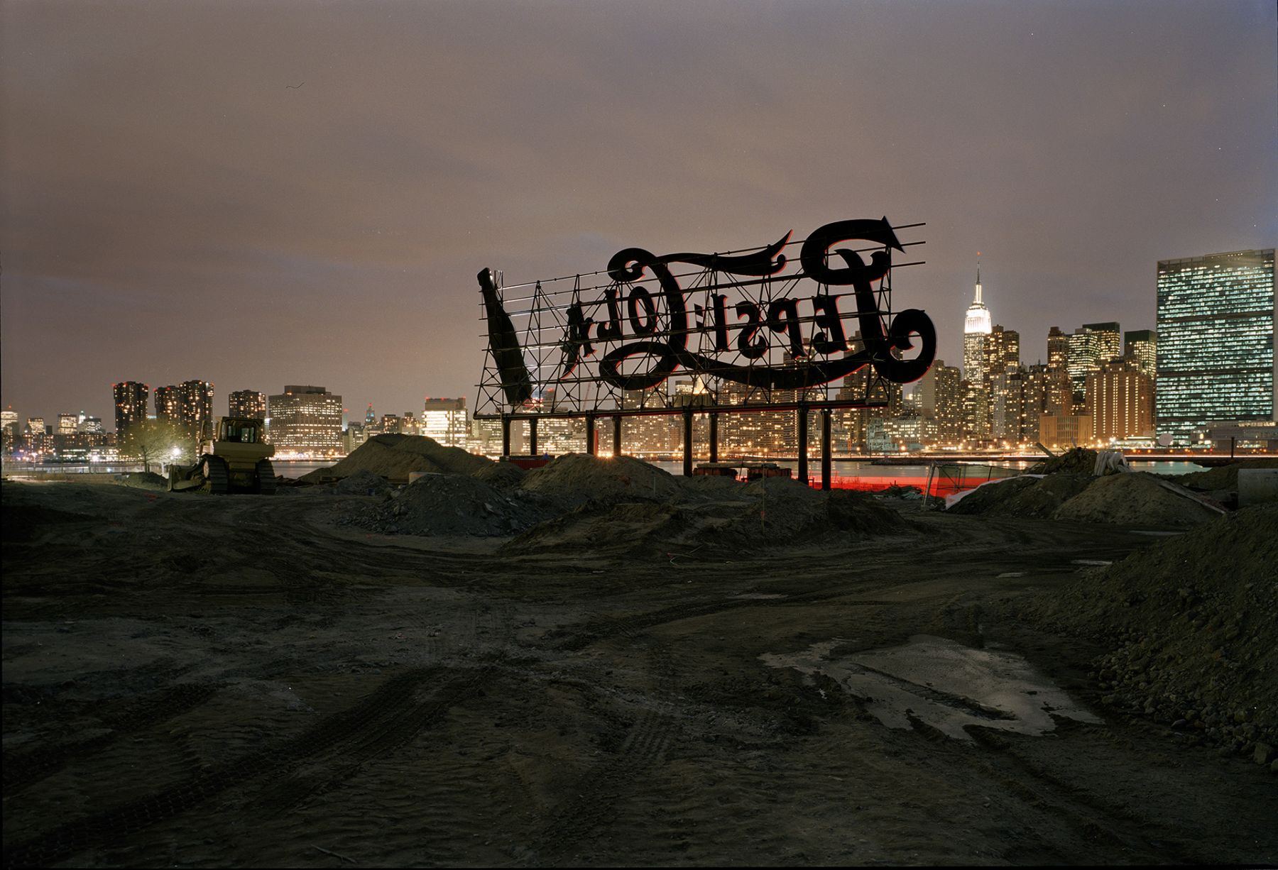Pepsi-Cola Sign, 2008, Chromogenic Print, available in: 20 x 24 inches, edition of 15; 30 x 40 inches, edition 15; and 40 x 50 inches,