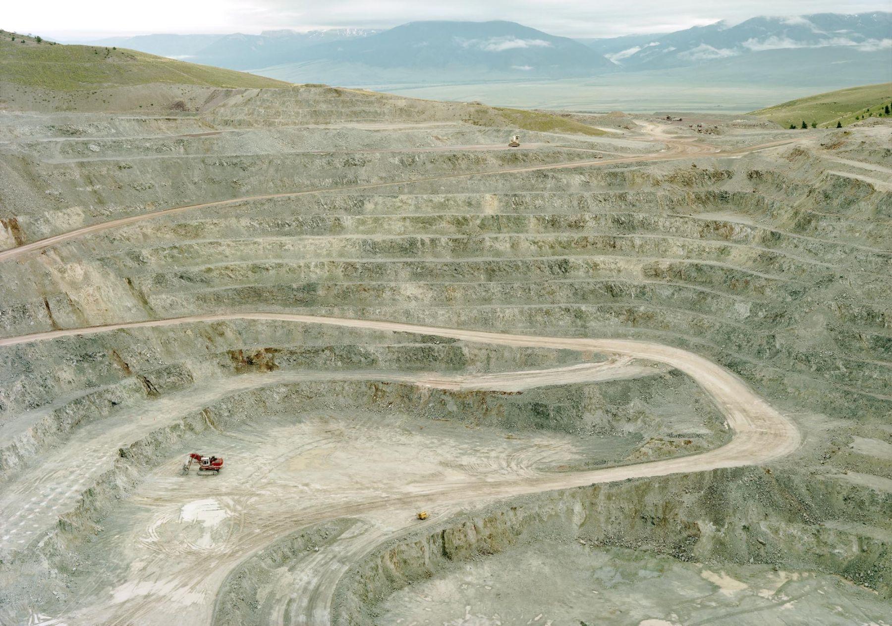 Untitled (Talc mine with truck), Cameron, Montana, 2009, 39 x 55 or 55 x 77 inch chromogenic print