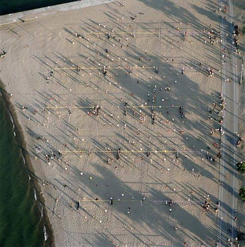 Volleyball, North Avenue beach, from the series Revealing Chicago, 2003, 30 x 30or 40 x 40 inch chromogenic print