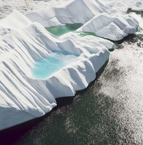Ice fjord leading to Jakobshavn Glacier 4, from the series Greenland, 2008, 30 x 30 or 40 x 40 inch archival inkjet print