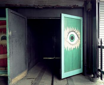 Eye on Door, Spook-A-Rama, Coney Island, 2004, Chromogenic Print, available in 20 x 24, 30 x 40, and 40 x 50 inches, editions of 5.