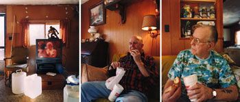David Hilliard, Hot Coffee, Soft Porn, 1999, 24 x 60 inch chromogenic print in 3 panels, Signed, titled, dated and editioned on verso,