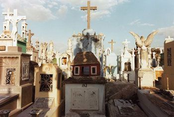 Edwardo del Valle & Mirta Gomez, Cemetery, Merida, Yucatan, Mexico, 1995, 20 x 24 inch Chromogenic Print, Signed, dated, titled and editioned on verso, Edition of 20