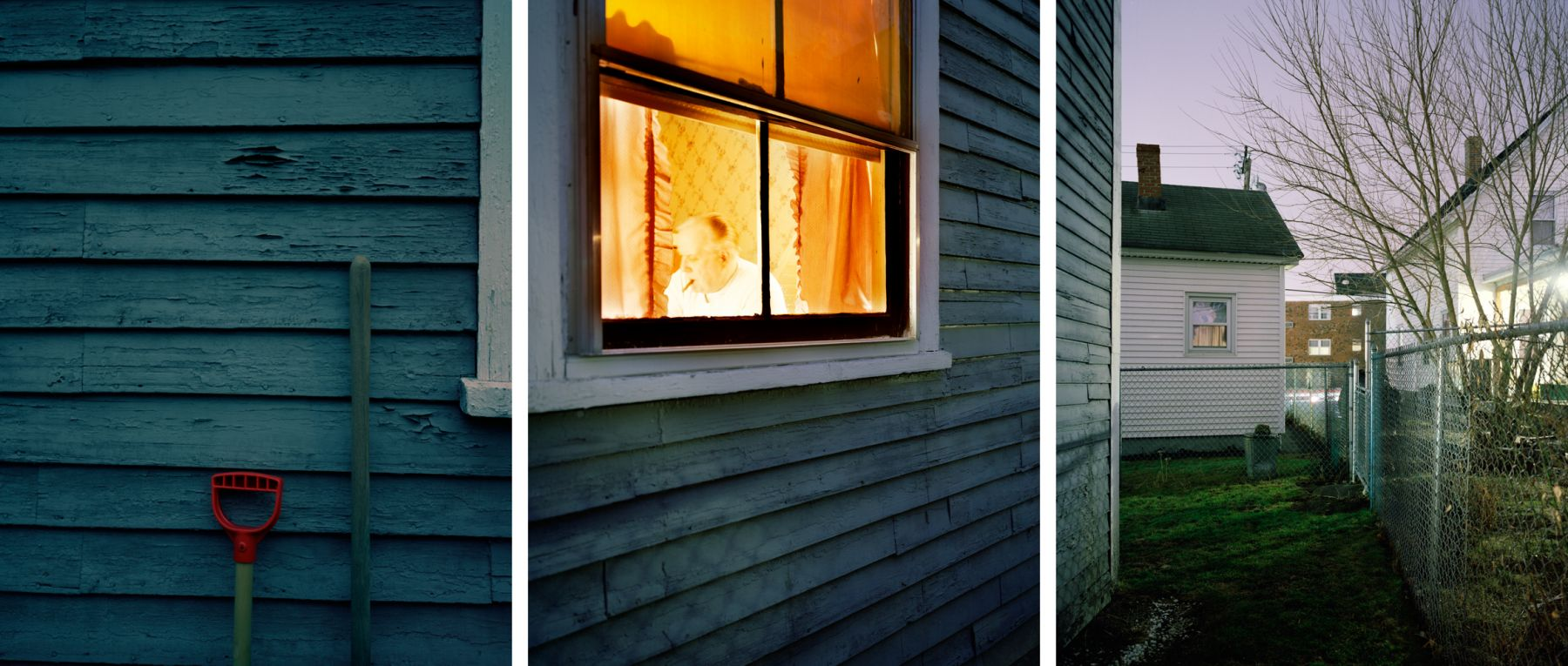Dad, 1998. Three-panel archival pigment print, available as 24 x 60 or 40 x 90 inches.