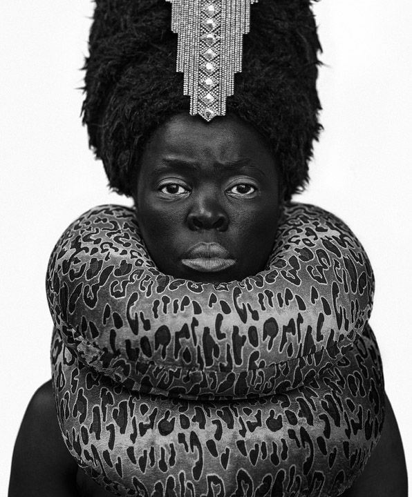Zanele Muholi, Xiniwe at Cassilhaus, North Carolina, 2016. Gelatin silver print, 31.5 x 24.5 inches.