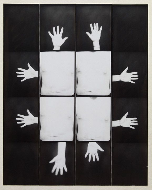 Jared Bark,Untitled, PB #1080,1973. Vintage gelatin silver photobooth prints, 8 x 6 1/2 inches overall.