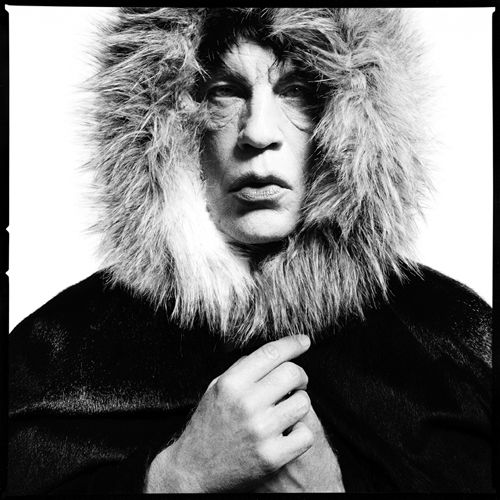 "David Bailey / Mick Jagger ""Fur Hood"" (1964), 2014, Archival pigment print, 16 x 16 inches"