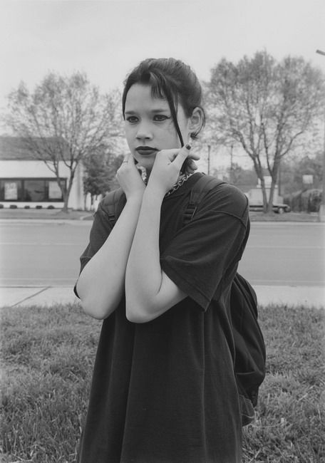 Charlotte, NC (goth girl) 1997 Gelatin silver print, please inquire for available sizes