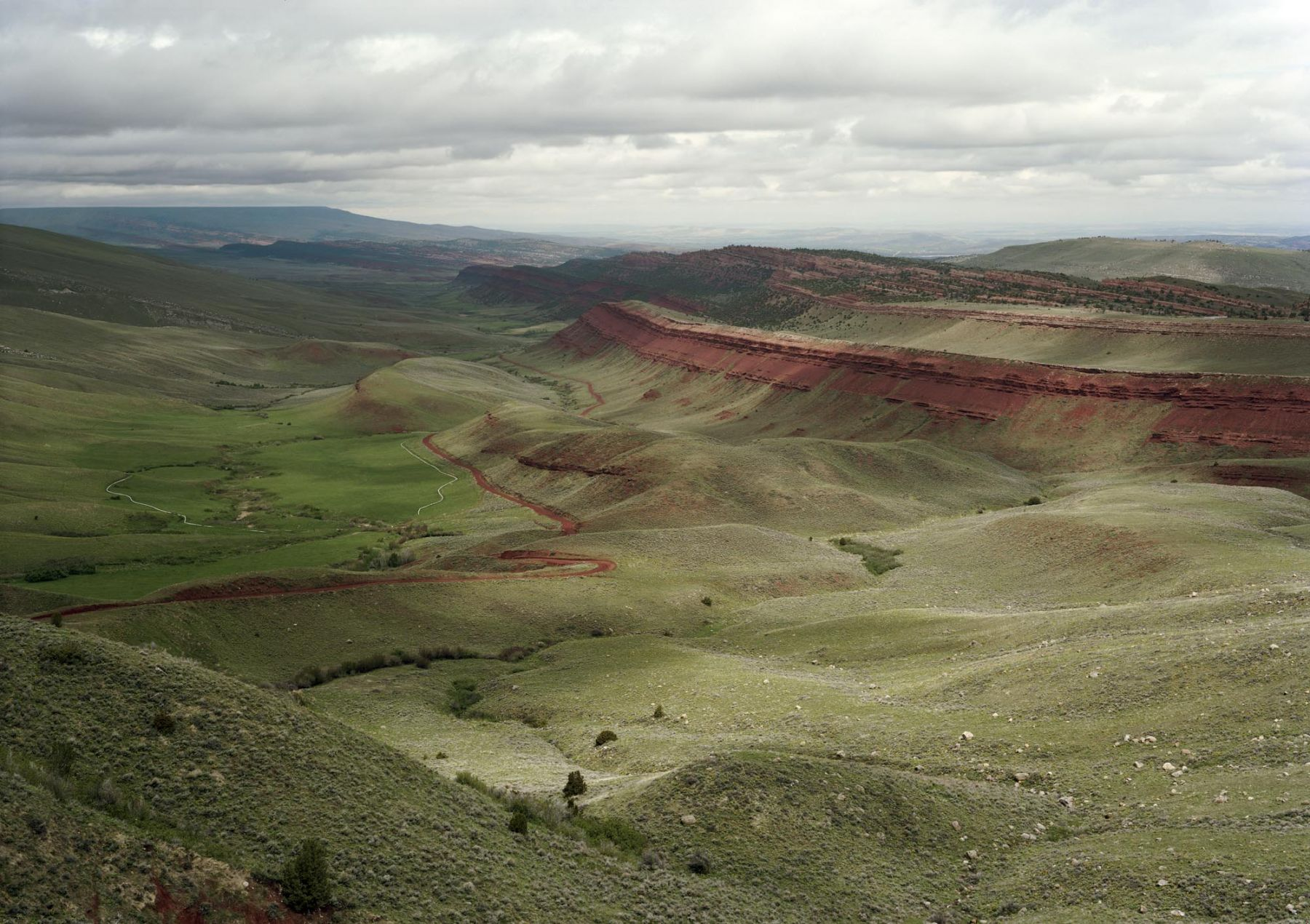 Untitled, Red Canyon, near Lander, Wyoming, 2009, 39 x 55 inch or 55 x 77 inch chromogenic print.