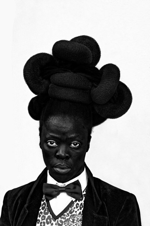 Zanele Muholi, Phaphama at Cassilhaus, North Carolina, 2016. Gelatin silver print, 39 x 22 inches.