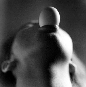 Mario Cravo Neto, Lua with Egg (Version 2), 1992, 15 x 15 inch Gelatin Silver Print, Signed & dated in margin, Edition of 25