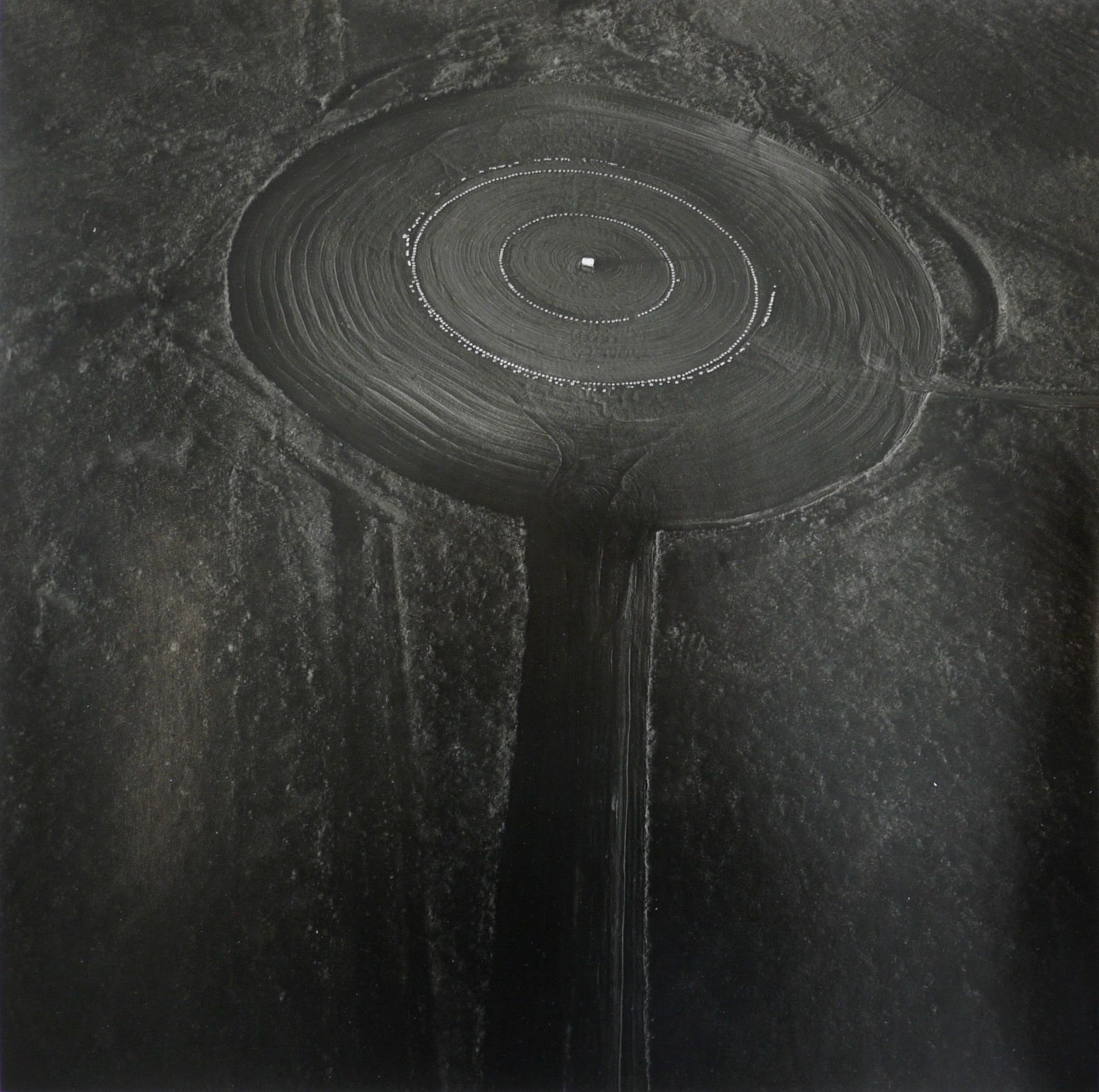 Smoky Hill Weapons Range Target: Tires, September 30, 1990, 15 x 15 inch gelatin silver print